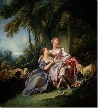 A Carta de Amor, 1750, óleo sobre tela, François Boucher