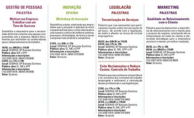 agenda sebrae 2
