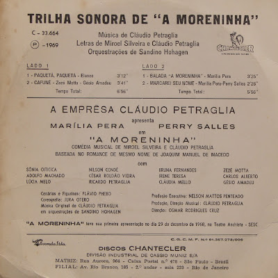 Trilha sonora de A Moreninha - Contracapa